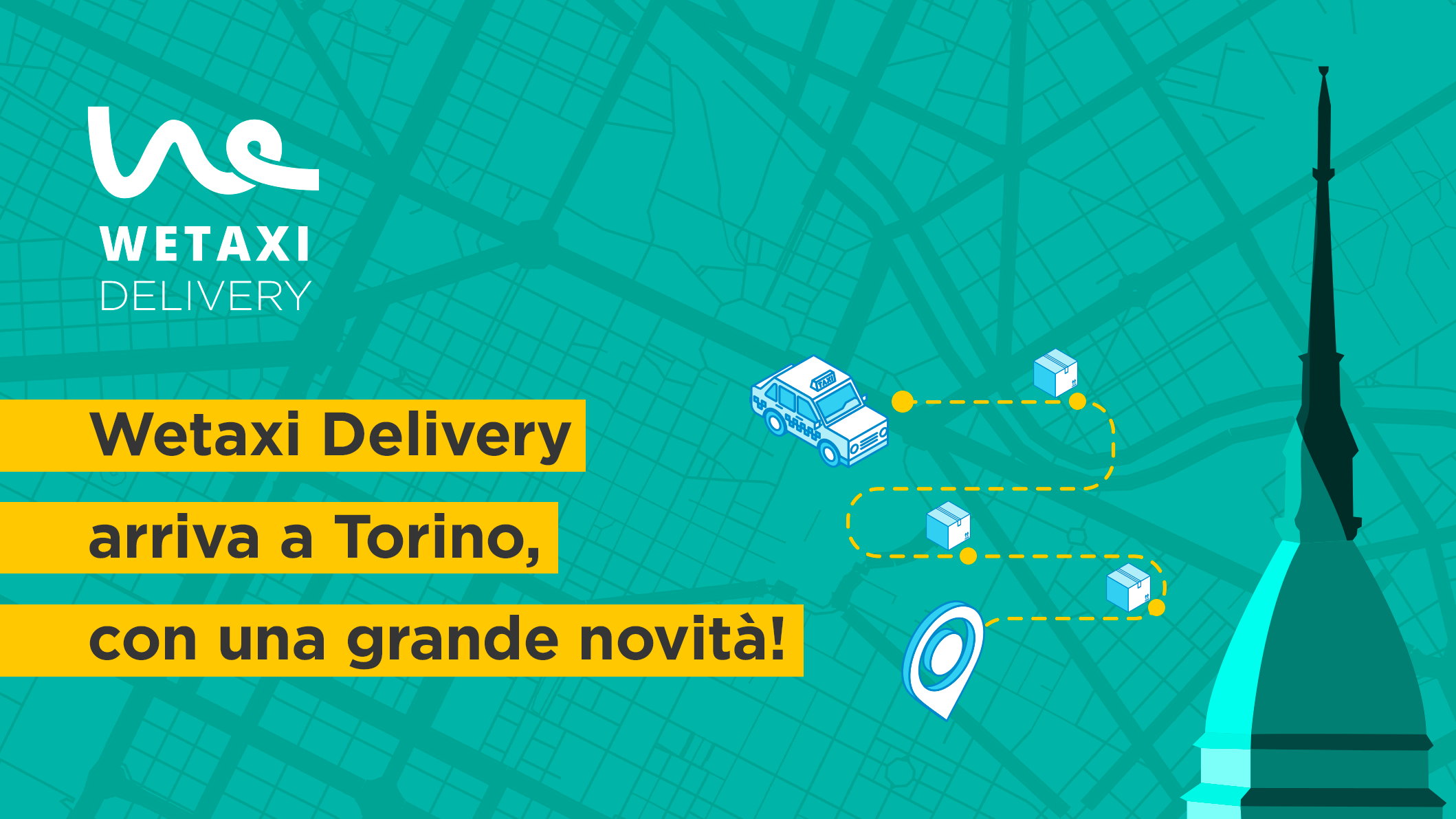 Wetaxi Delivery arriva a Torino