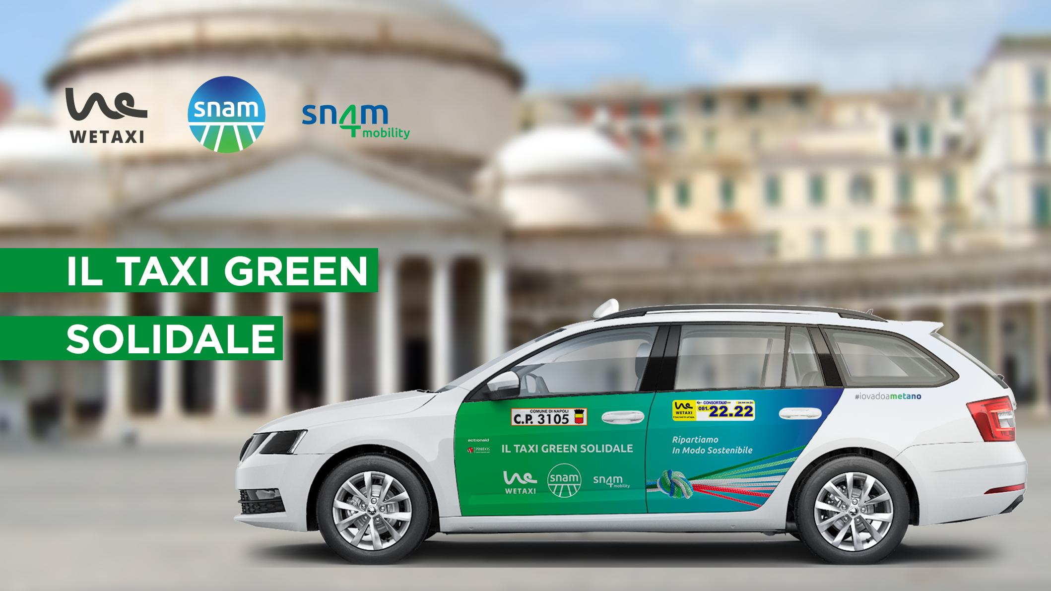 Snam e Wetaxi Delivery portano a Napoli il Taxi Green Solidale
