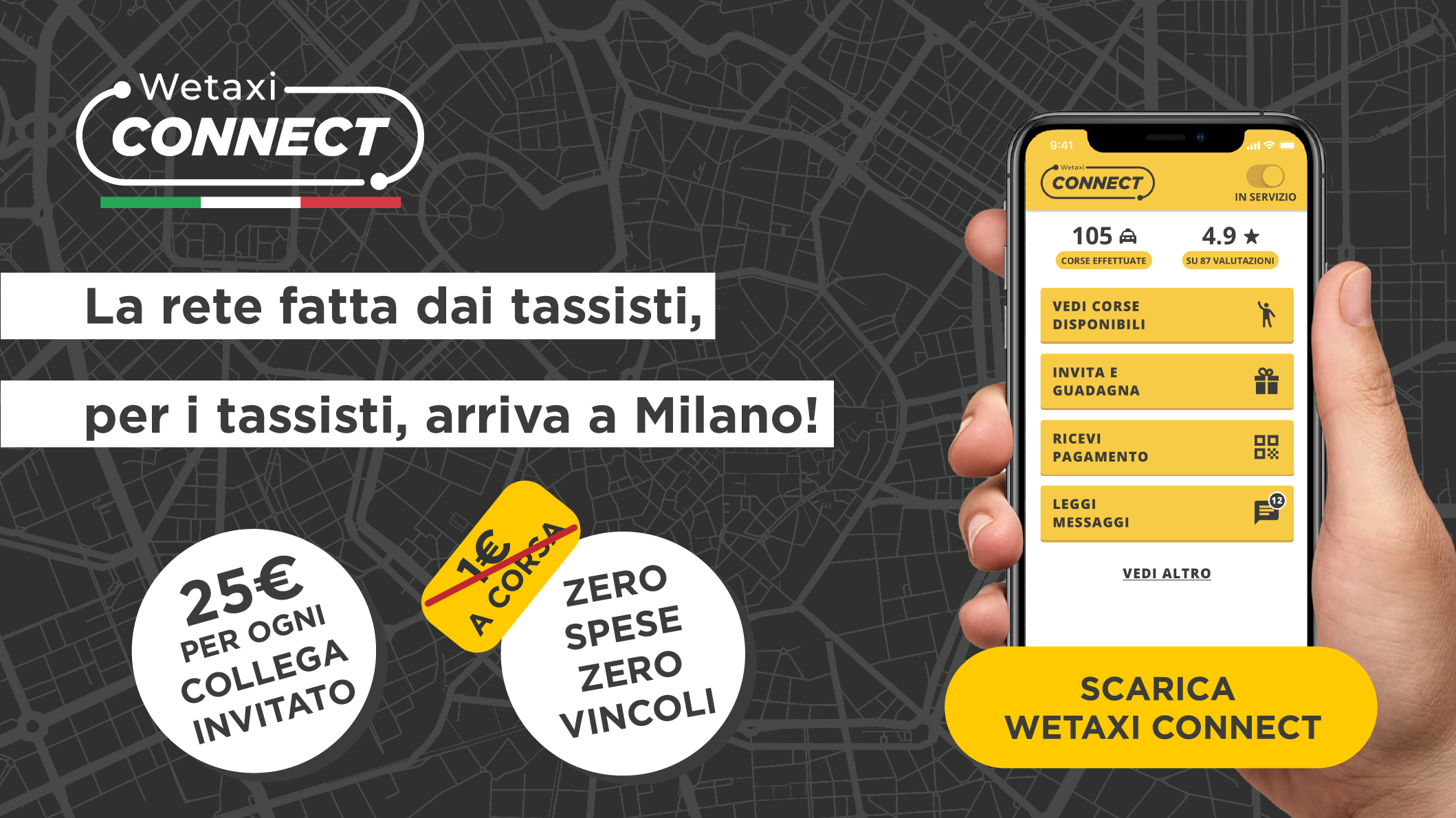 Connect arriva a Milano